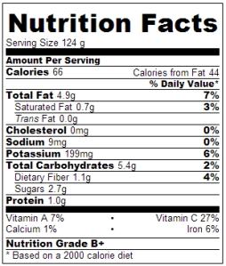 nutrition label cucumber salad
