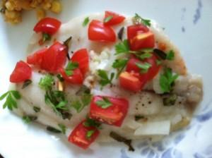tilapia white wine tomatoes 1