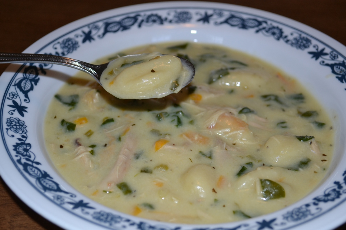 Comfort Food Creamy Chicken Soup With Gnocchi Cook And Count