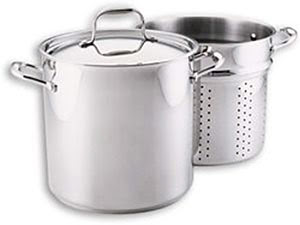stockpot with colander