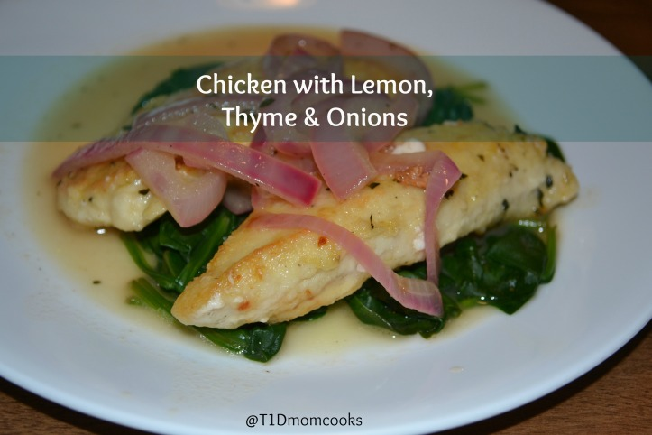 rustic chicken with onions over spinach (1)T C