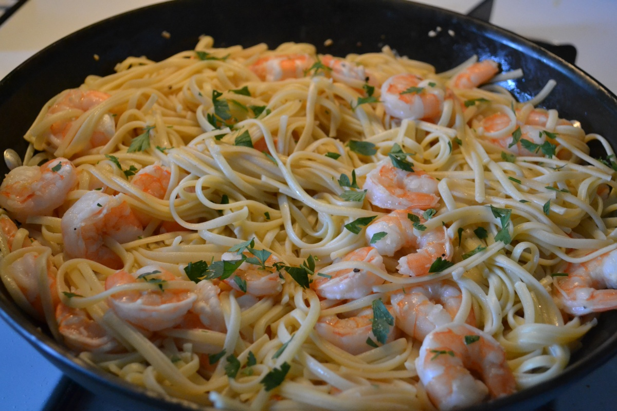 Shrimp Scampi with Pasta – Cook and Count