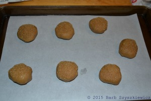 bakers dozen PB cookies UNBAKED