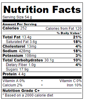 Serving size: 1 cookie