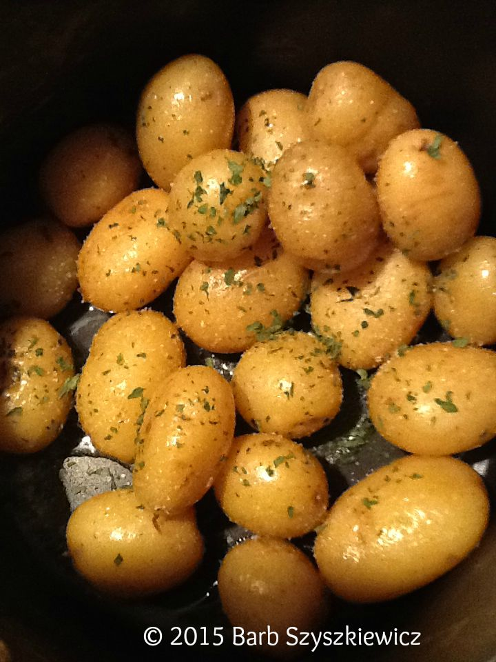 tiny potatoes butter parsley c