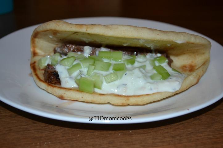 Greek pitas with steak C