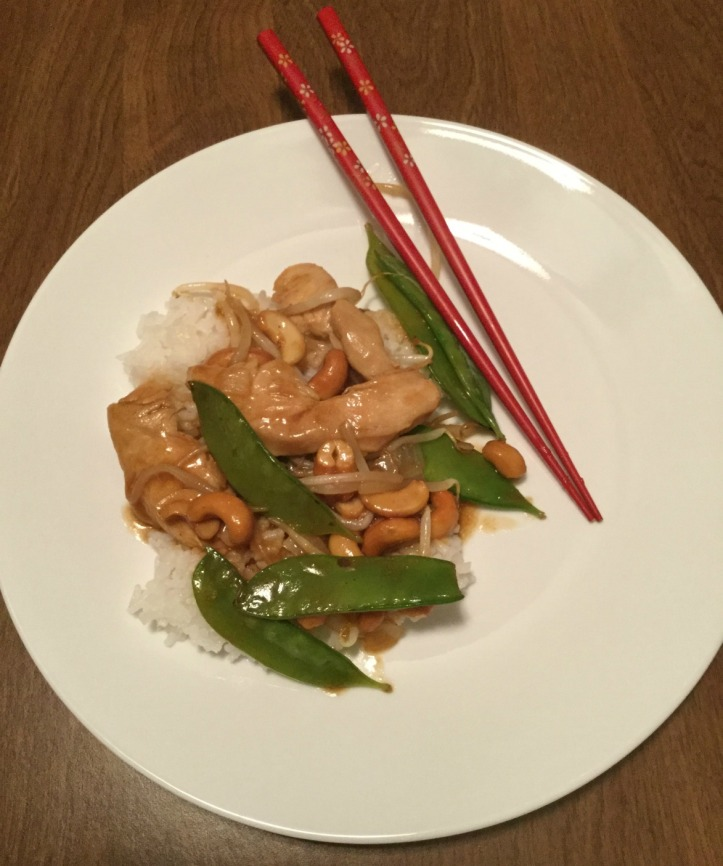 Cashew Chicken with snow peas