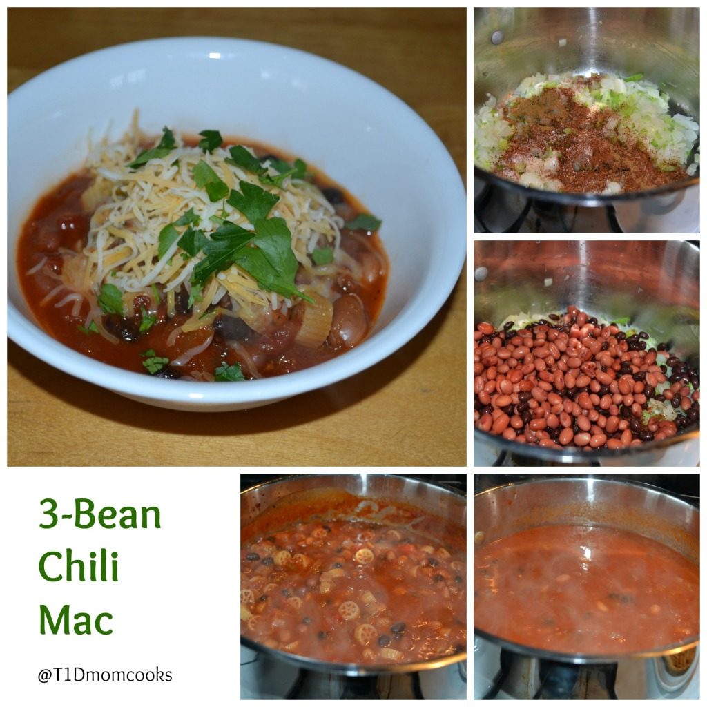 3 Bean Chili Mac collage