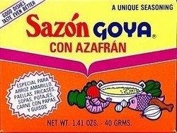 sazon goya con azafran