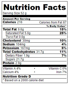Serving size: 1 cookie. They're 6 inches across!