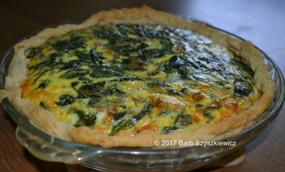 Spinach Shallot and Swiss Quiche by Barb Szyszkiewicz (CookandCount.wordpress.com)