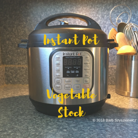 """Instant Pot Vegetable Stock"" (CookandCount.wordpress.com)"