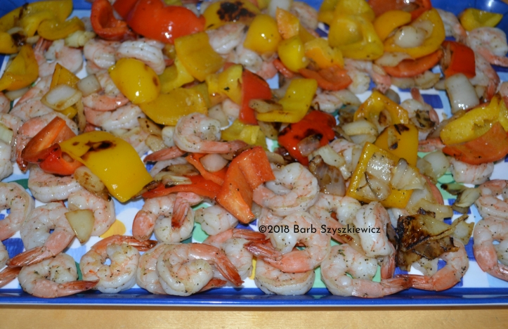 grilled shrimp and vegetables (3)C