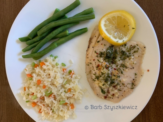 Garlic Pepper Tilapia by Barb Szyszkiewicz (CookandCount.wordpress.com)