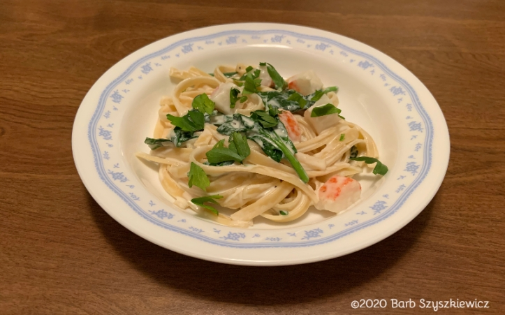 Seafood pasta spinach 1c