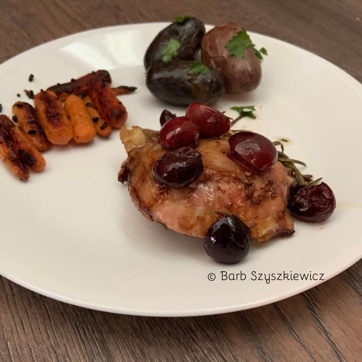 balsamic chicken bing cherries 1